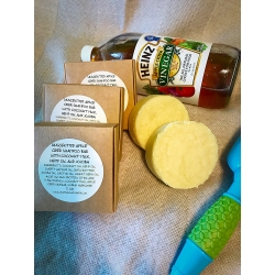 UNSCENTED APPLE CIDER SHAMPOO BAR WITH COCONUT MILK, HEMP SEED OIL AND JOJOBA OIL