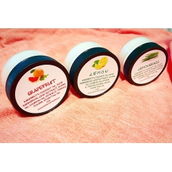 SET OF 3 NATURAL WHIPPED CITRUS BODY BUTTERS MOISTURIZERS