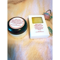 VERA WANG PERFUMED BATH AND BODY GIFT SET OF WHIPPED NATURAL BODY BUTTER AND SOAP