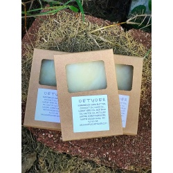 VETYVER PALM OIL FREE HANDMADE ALL NATURAL FACIAL BODY SOAP BAR WITH WHITE KAOLIN CLAY FROM HAPPYSOAPMAKER